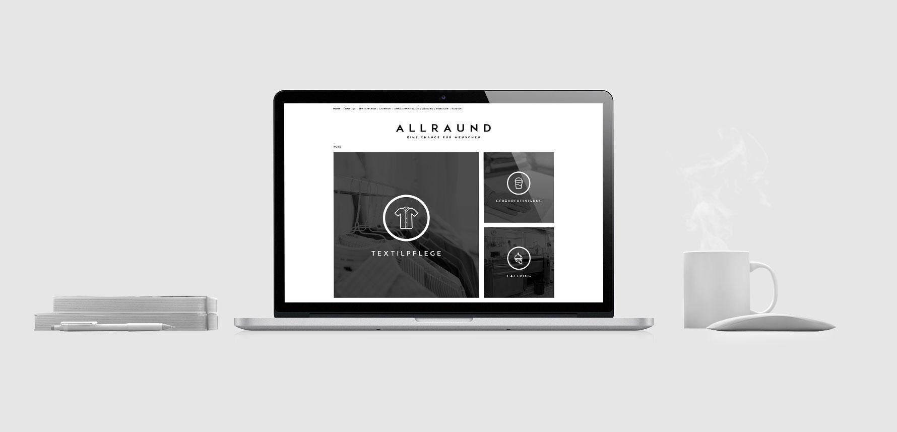 Hüfner Design | Referenz AllrAUnd gGmbH | Webdesign