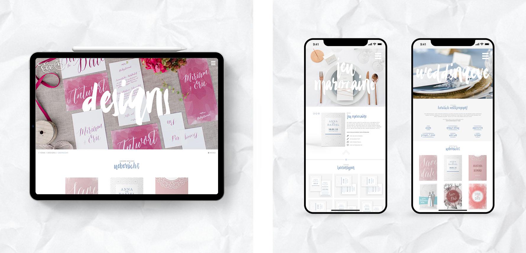 Hüfner Design | Referenz WeddingEve | Corporate Identity | Webdesign