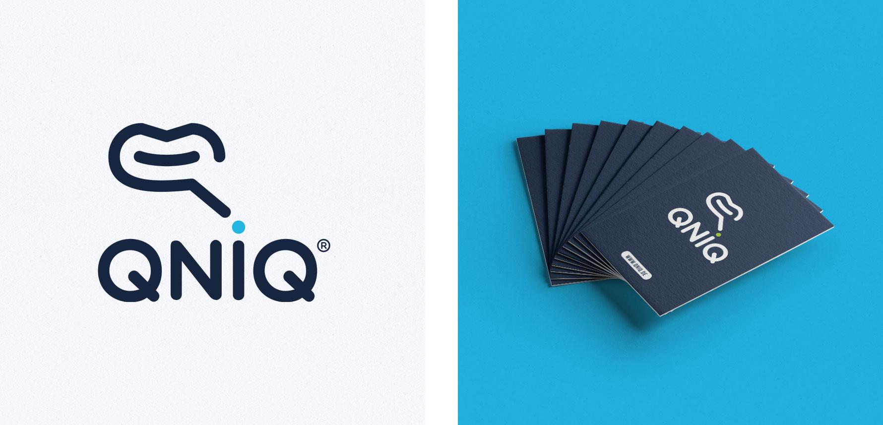 Hüfner Design | Referenz QNIQ | Logo Design | Business Card