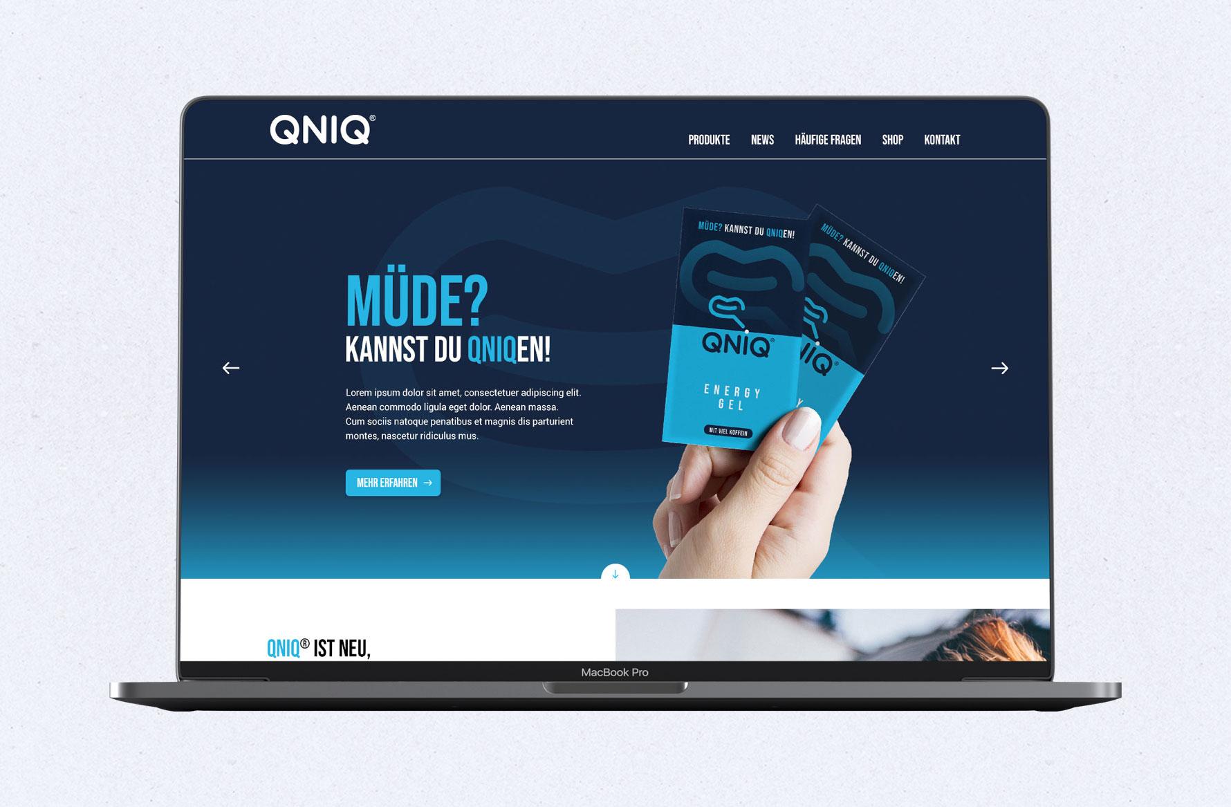 Hüfner Design | Referenz QNIQ | Webdesign