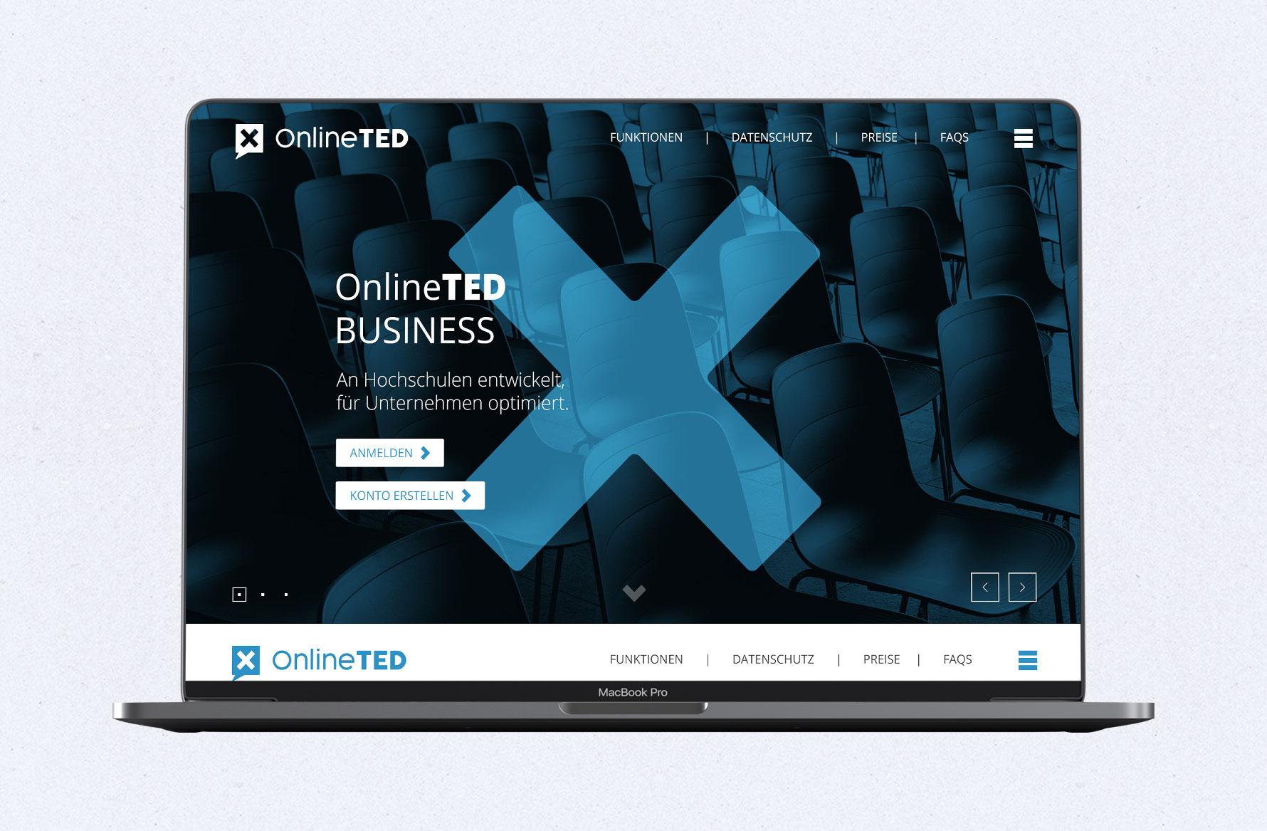 Hüfner Design | Referenz OnlineTED | Webpage