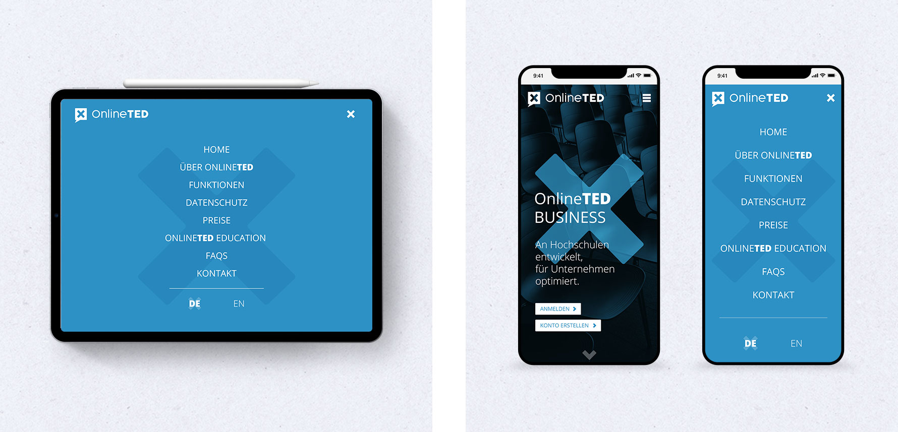 Hüfner Design   Referenz OnlineTED   Webdesign