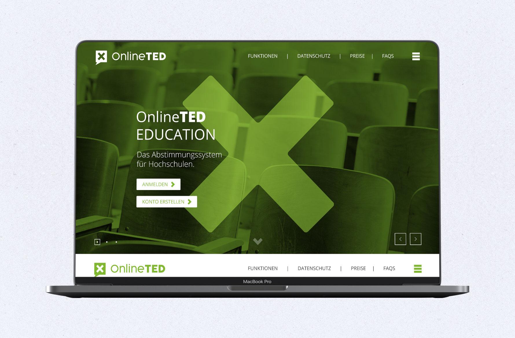 Hüfner Design   Referenz OnlineTED   Webpage