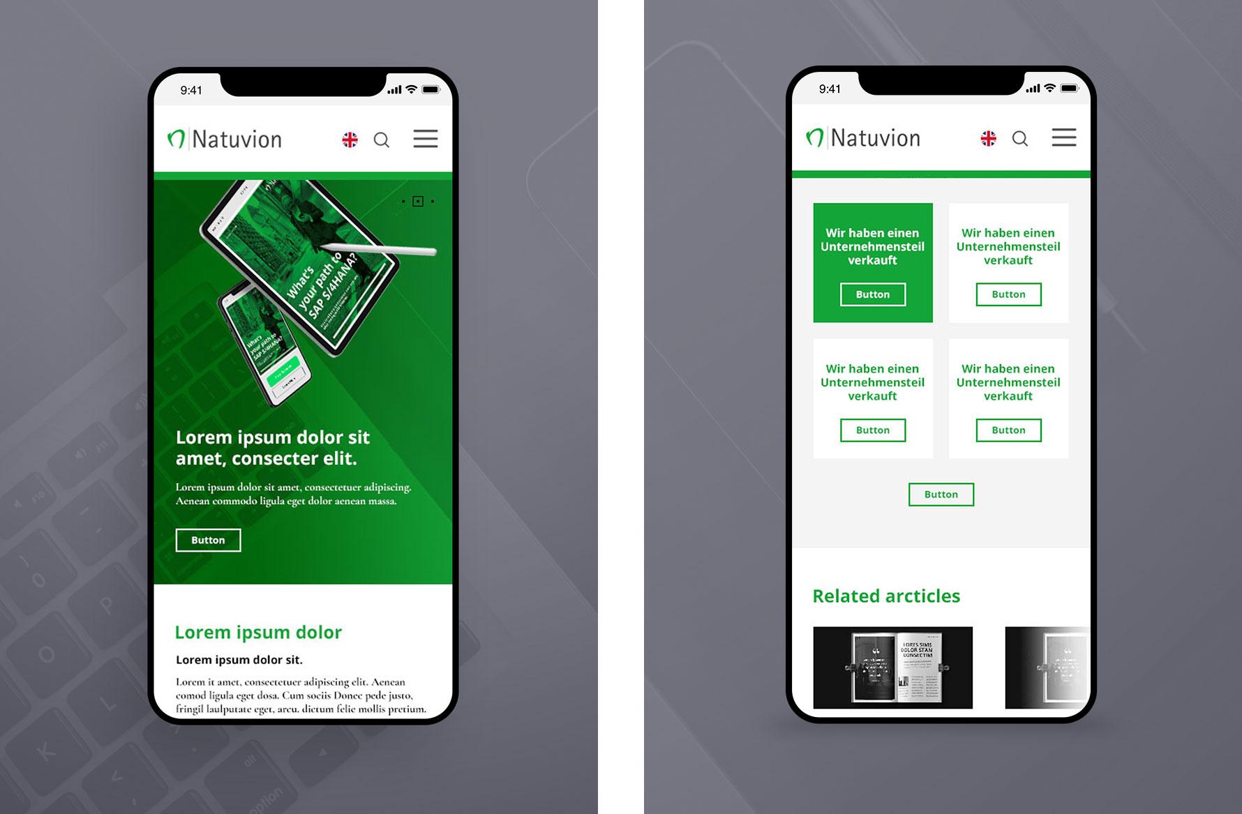 Hüfner Design | Referenz Natuvion | Redesign