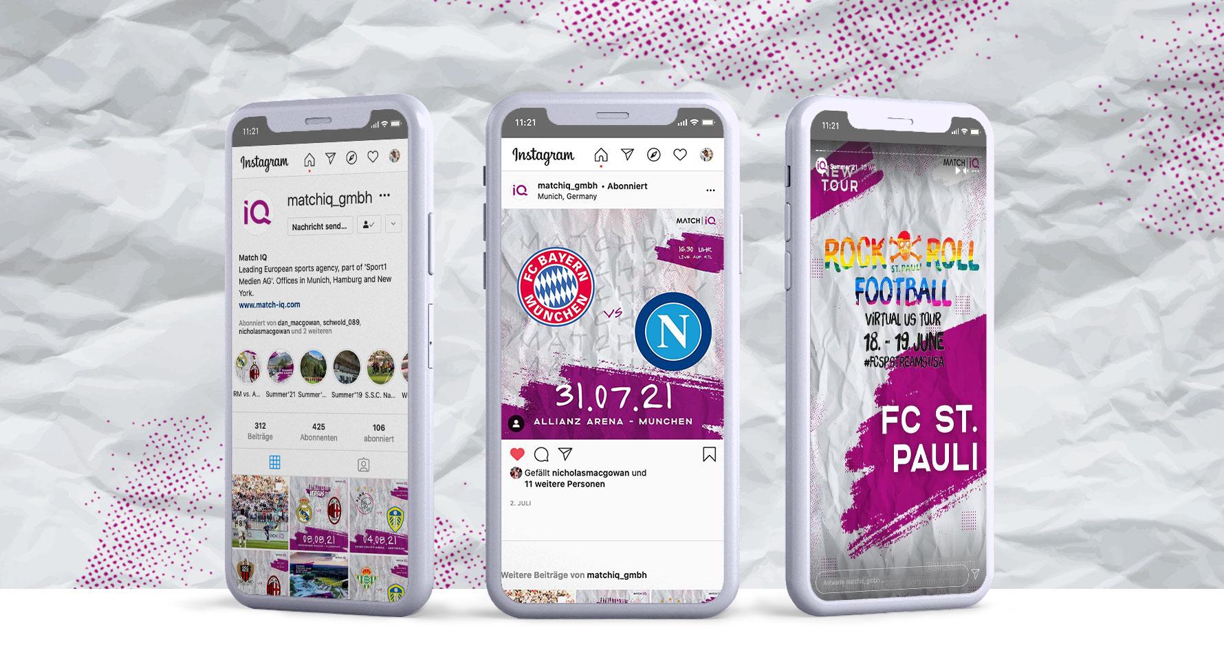 Hüfner Design   Referenz Match IQ   Social Media, Instagram