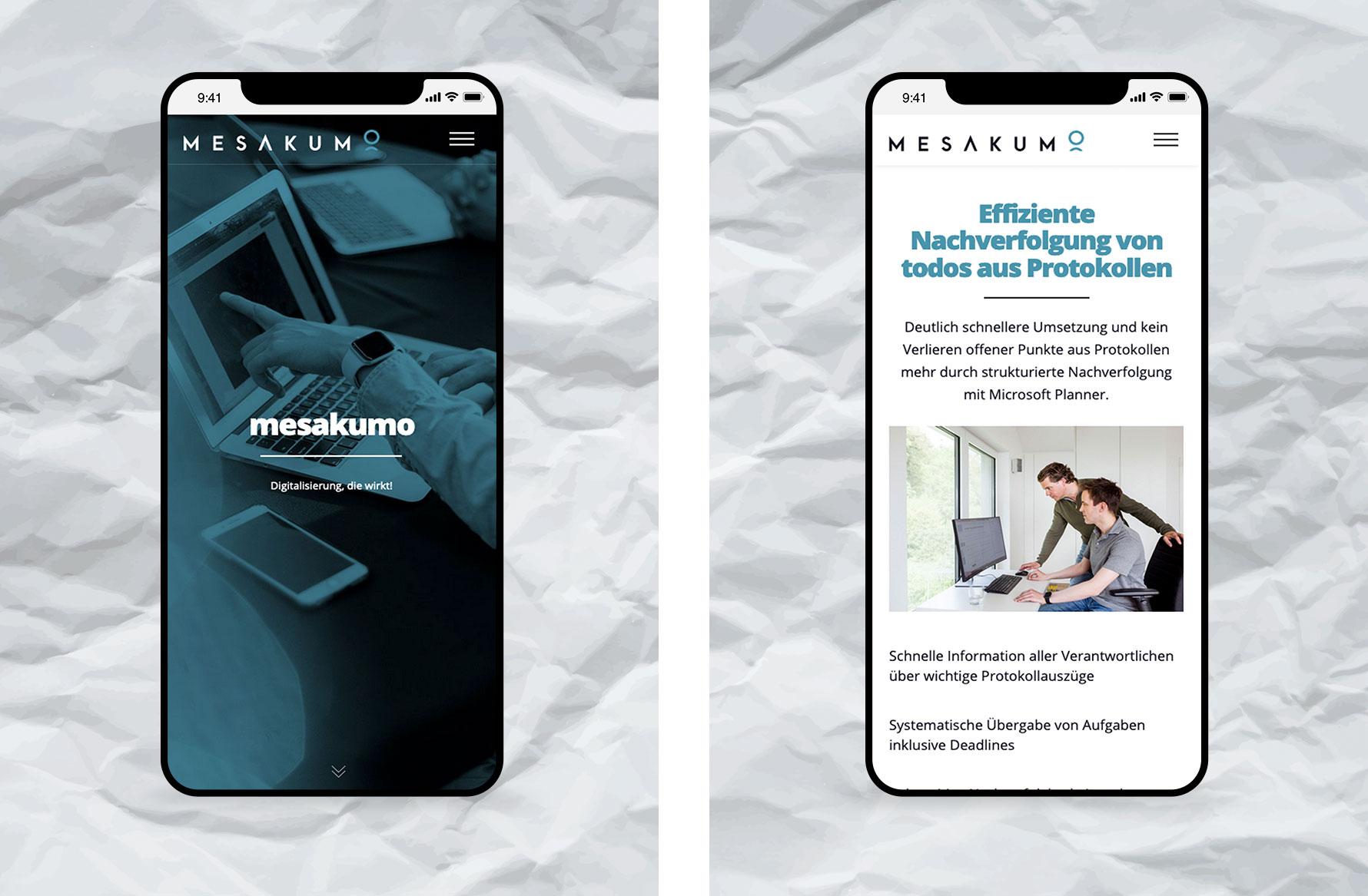 Hüfner Design | Referenz mesakumo | Webdesign, Mobile